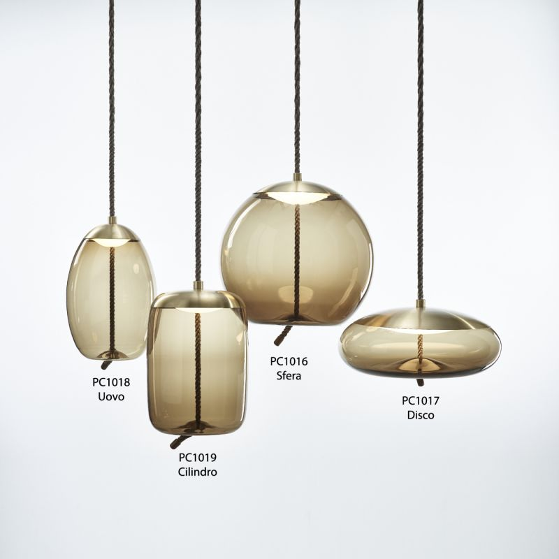 knot sfera,suspension,verre,brokis, espace lumière
