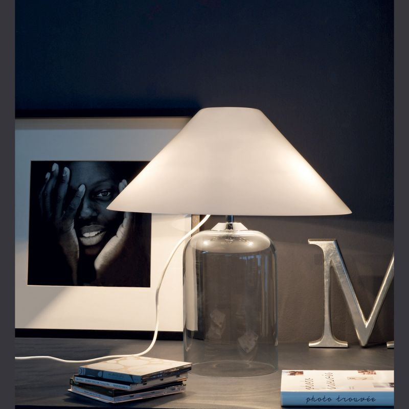 alega lampe de table verre vistosi espace lumiere. Black Bedroom Furniture Sets. Home Design Ideas